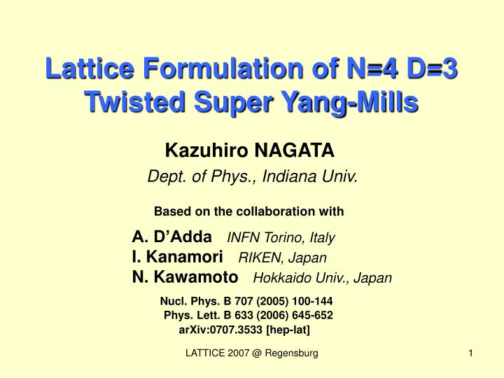 Lattice Formulation of N=4 D=3 Twisted Super Yang-Mills