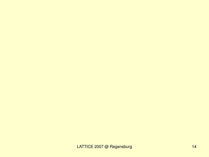 LATTICE 2007 @ Regensburg