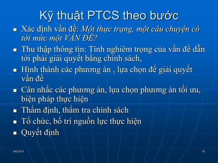 Kỹ thuật PTCS theo bước