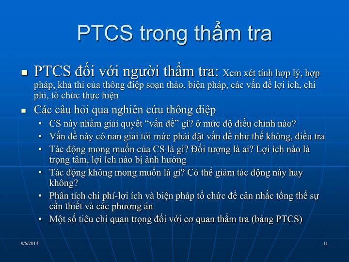 PTCS trong thẩm tra