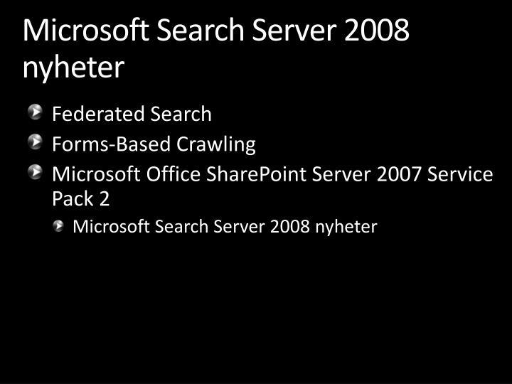 Microsoft Search Server 2008
