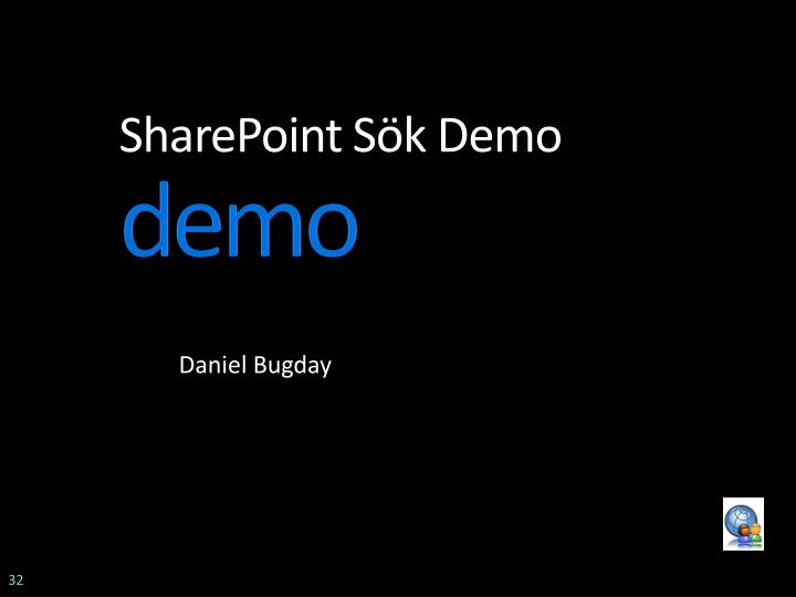 SharePoint Sök Demo