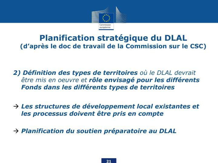 Planification stratégique du DLAL