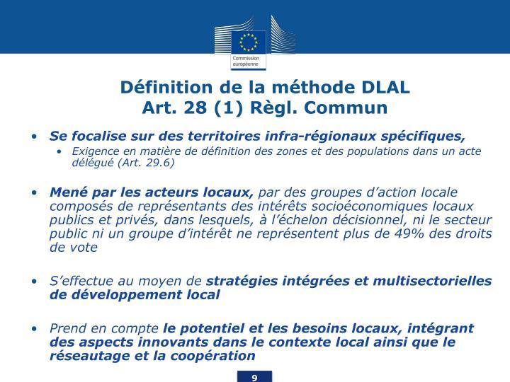 Définition de la méthode DLAL