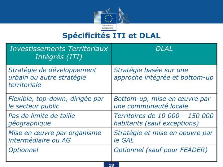 Spécificités ITI et DLAL