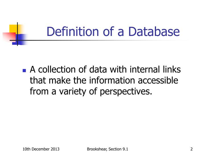 definition of relationship in database