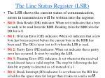the line status register lsr