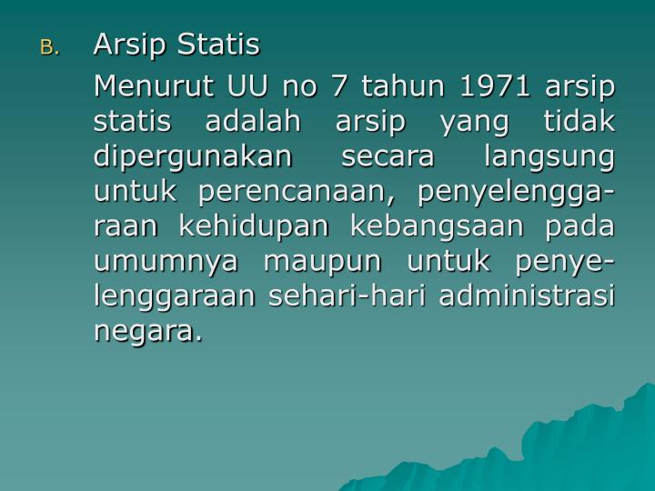 Arsip Statis