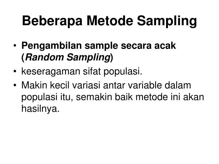 Beberapa Metode Sampling