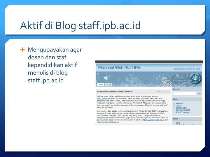 Aktif di Blog staff.ipb.ac.id