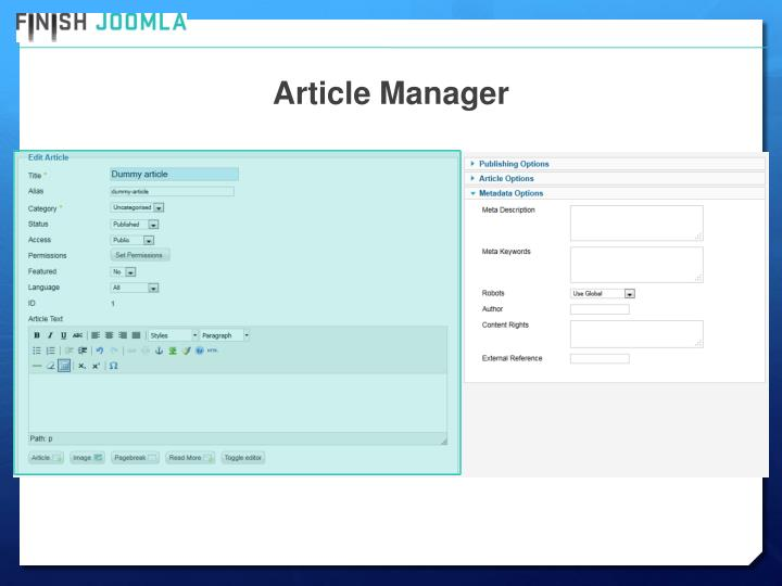 Article Manager