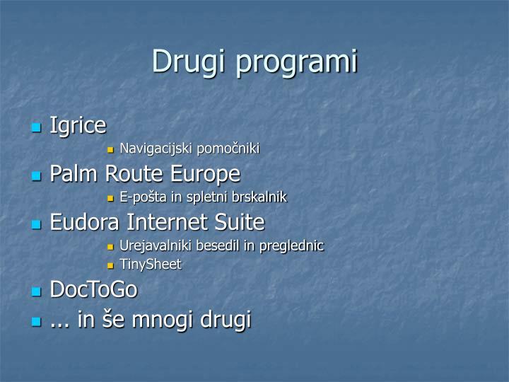 Drugi programi