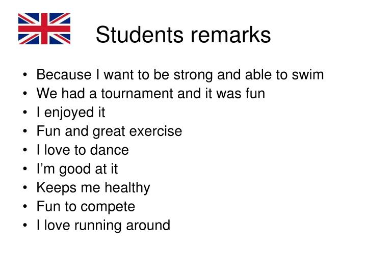 Students remarks