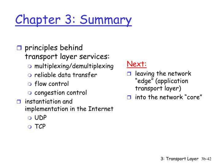 principles behind transport layer services:
