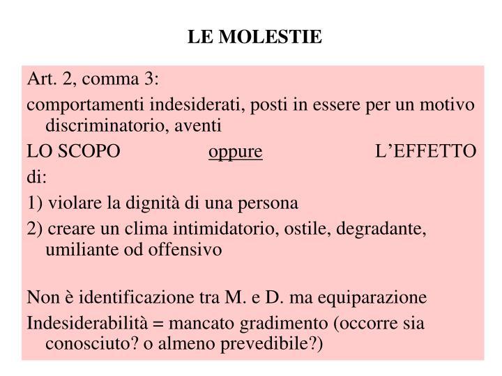 LE MOLESTIE
