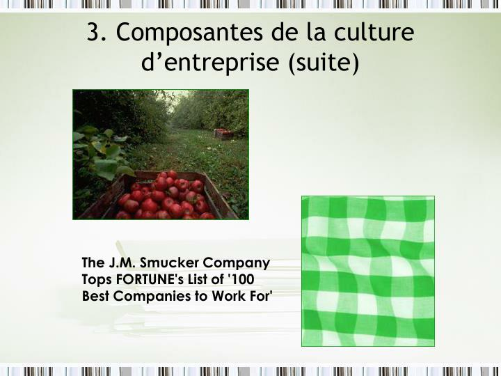 3. Composantes de la culture d'entreprise (suite)