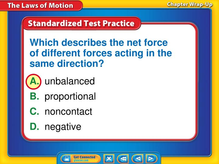 Which describes the net force