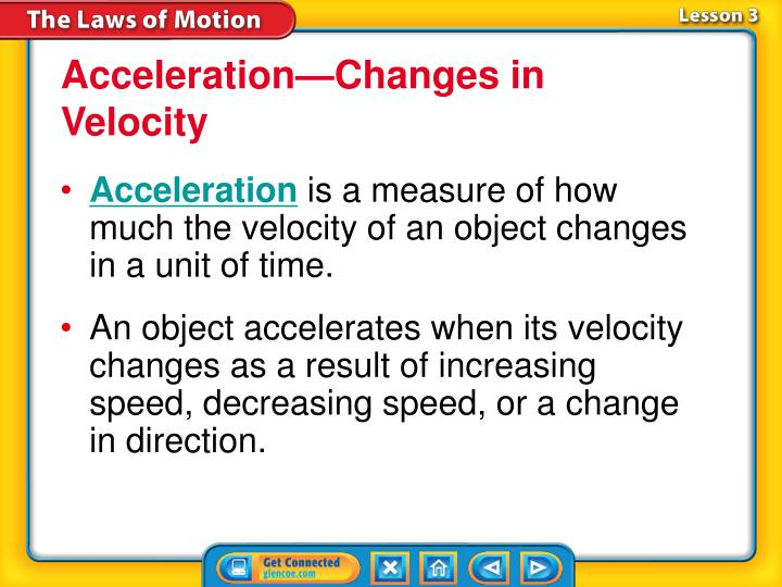 Acceleration—Changes in Velocity