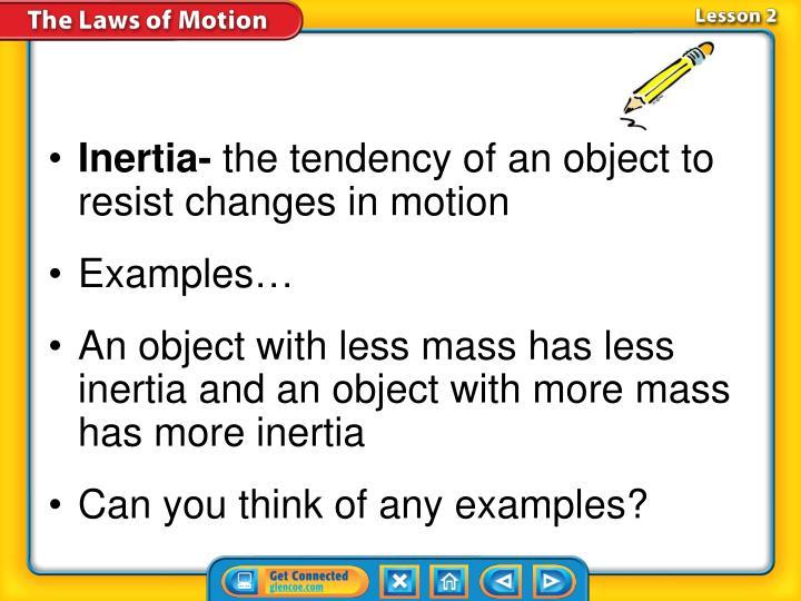 Inertia-