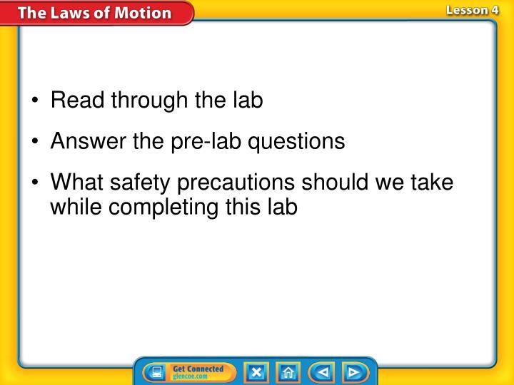 Read through the lab