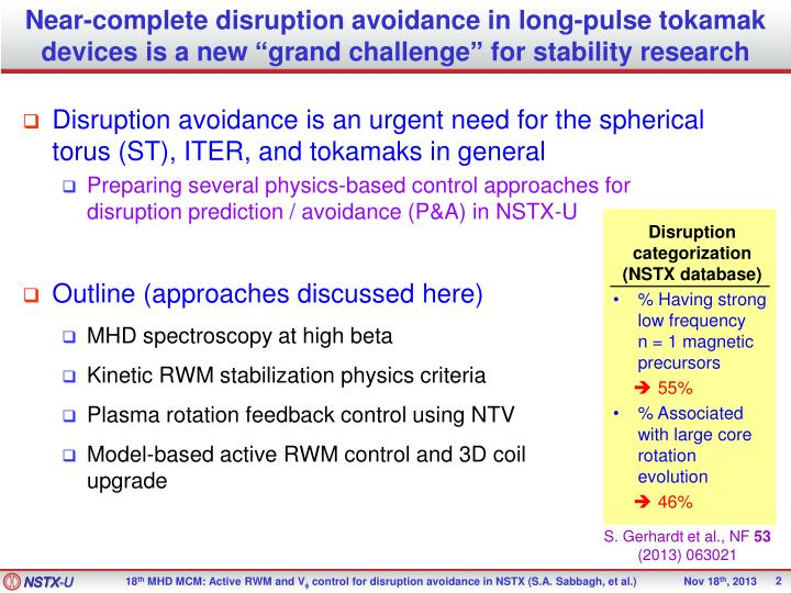 Near-complete disruption avoidance in