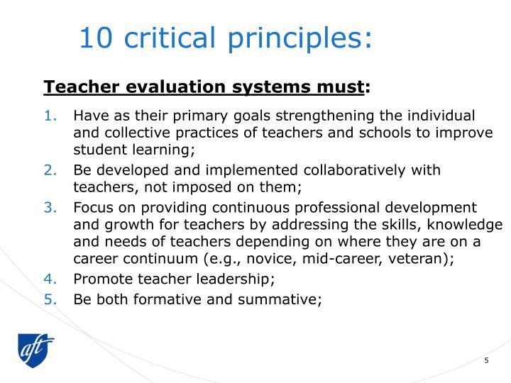 10 critical principles: