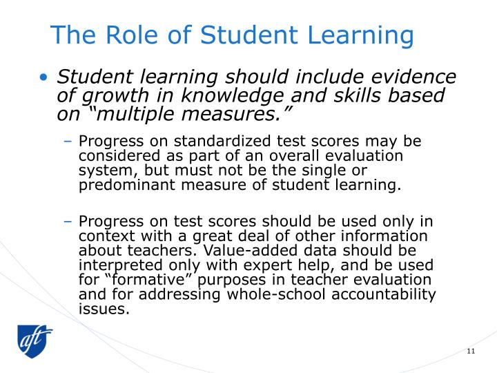 The Role of Student Learning