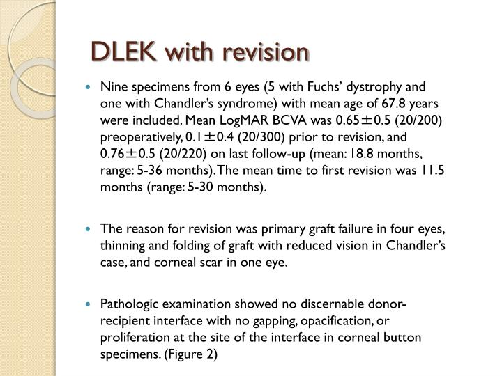 DLEK with revision