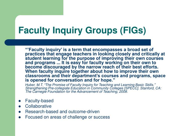 Faculty Inquiry Groups (FIGs)