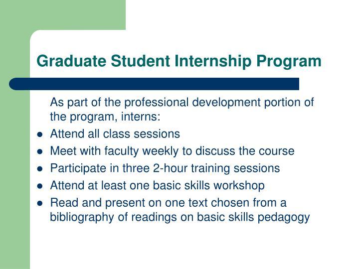 Graduate Student Internship Program