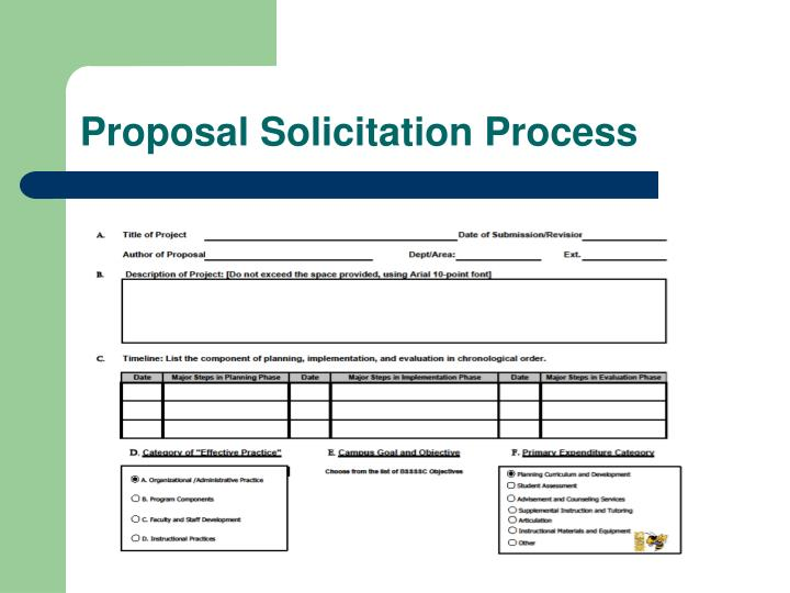 Proposal Solicitation Process