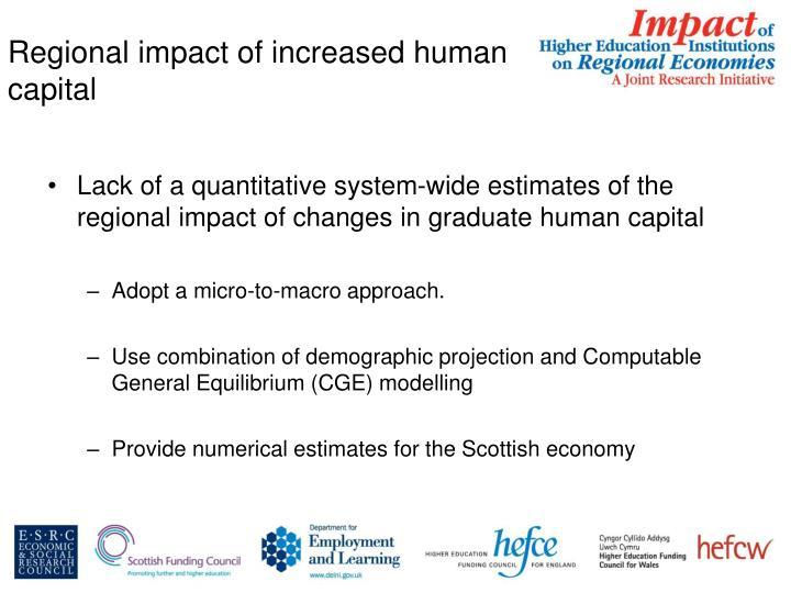 Regional impact of increased human capital
