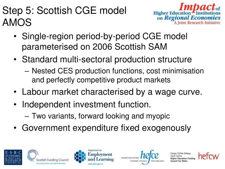 Step 5: Scottish CGE model AMOS