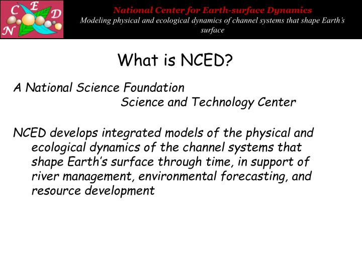 What is NCED?