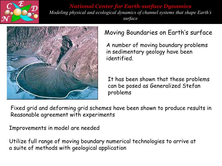 Moving Boundaries on Earth's surface