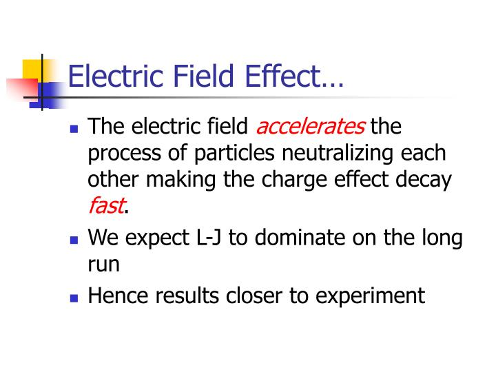 Electric Field Effect…