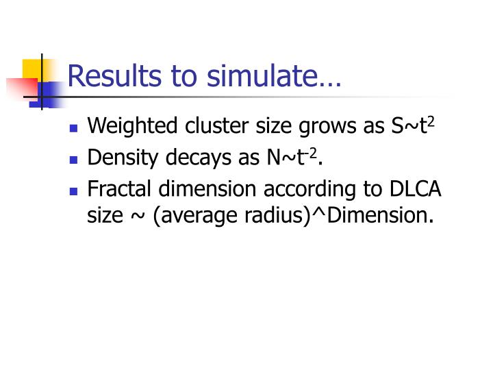 Results to simulate…