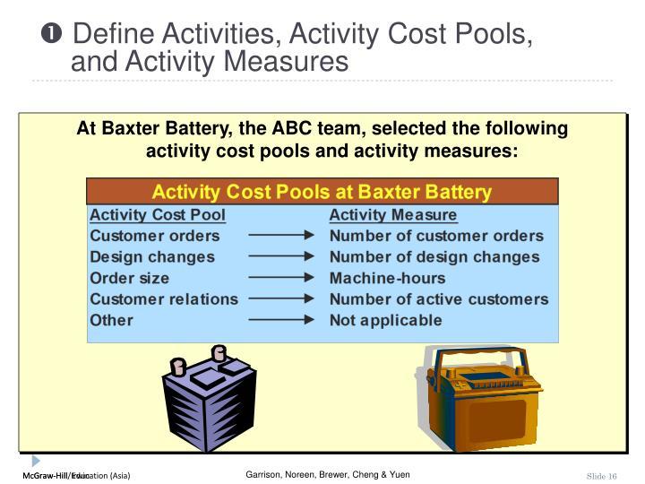  Define Activities, Activity Cost Pools,