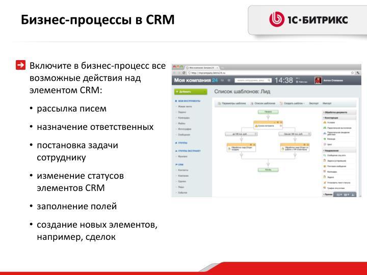 Бизнес-процессы в CRM