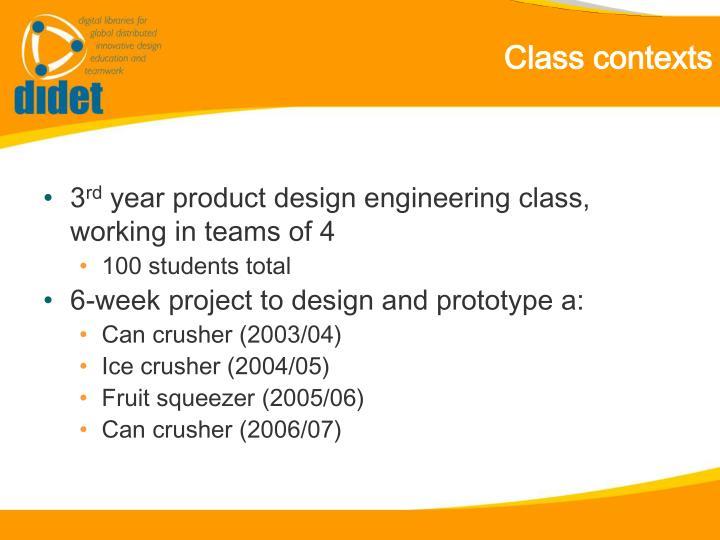 Class contexts