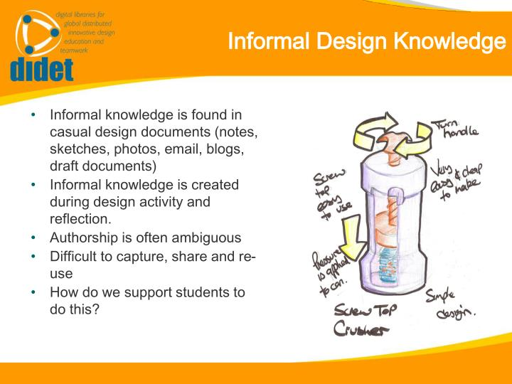 Informal Design Knowledge