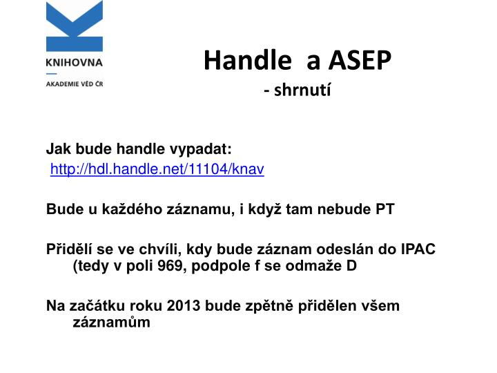 Handle  a ASEP