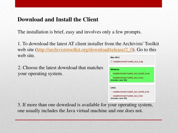 Download and Install the Client