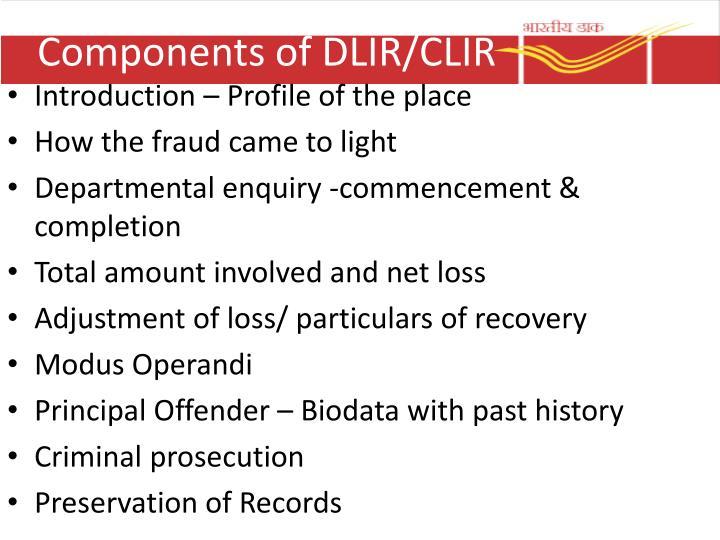 Components of DLIR/CLIR
