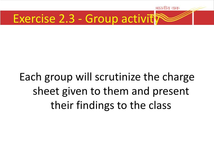 Exercise 2.3 - Group activity