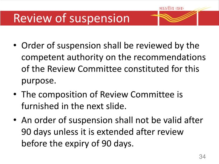 Review of suspension