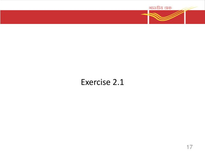 Exercise 2.1