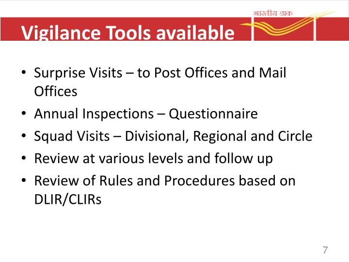 Vigilance Tools available