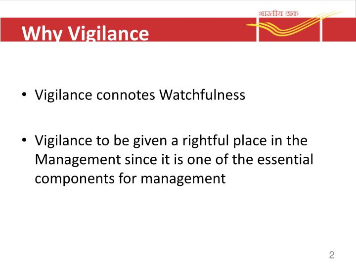 Why Vigilance