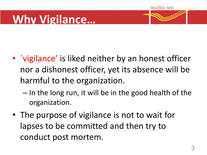 Why Vigilance…